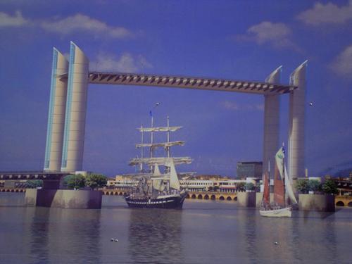 En 2013, grâce au pont BB, le Belem accostera sur les quais au coeur de la ville.