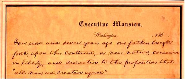 Gettysburg Address, November 19, 1863