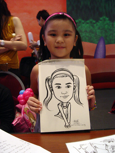 Caricature live sketching for Marina Square X'mas Tenants Gathering 2009 - 21