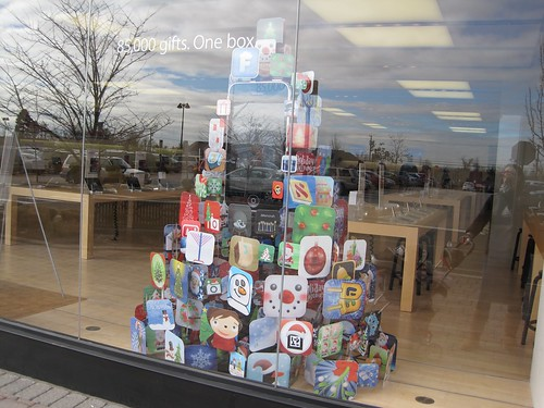 Siddur on App Tree at Apple Store Tice's Corner