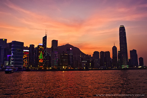 Hong Kong Sunset from Wanchai