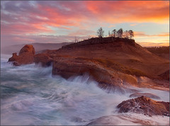 Cape Kiwanda Sunrise (Chip Phillips) Tags: ocean city oregon sunrise landscape photography coast sandstone pacific phillips chip cape kiwanda specialpicture impressedbeauty alemdagqualityonlyclub magicunicornverybest ☆thepowerofnow☆