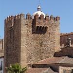 Cáceres: bujaco desde plaza mayor detalle
