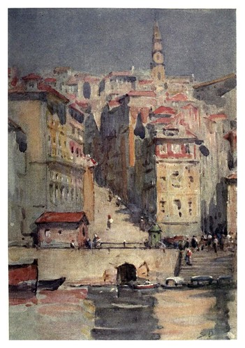 030-Vista de Oporto desde el Duero-Portugal its land and people- Ilustraciones de S. Roope Dockery 1909