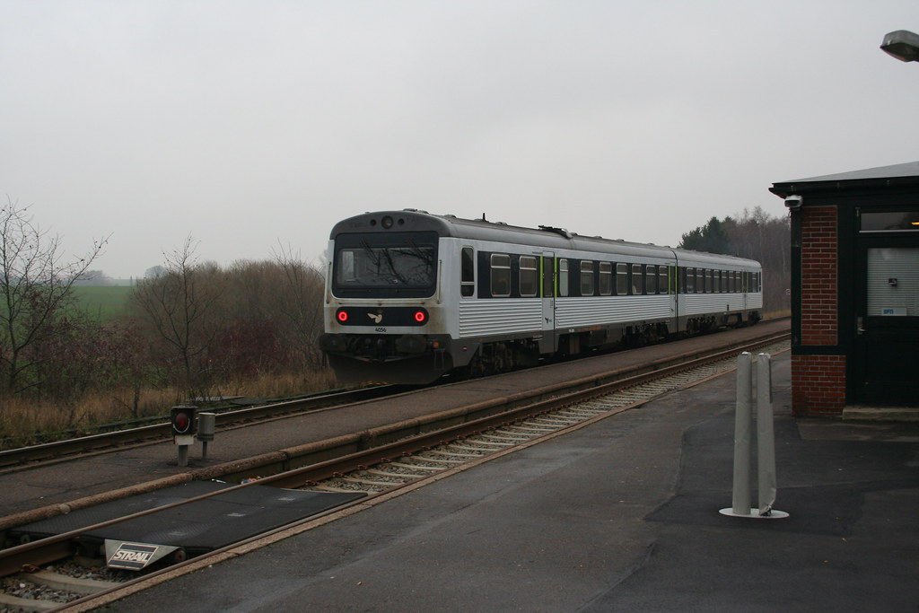 Train at Gadstrup Station