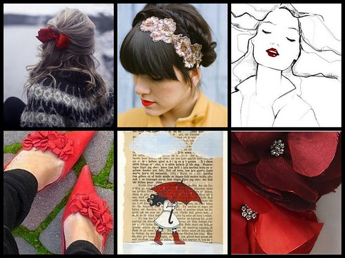 Pops of Red Collage