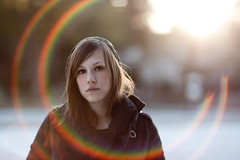 Laura Cook. (The Vision Beautiful) Tags: winter portrait cold girl lens coat flare brunette lauracook