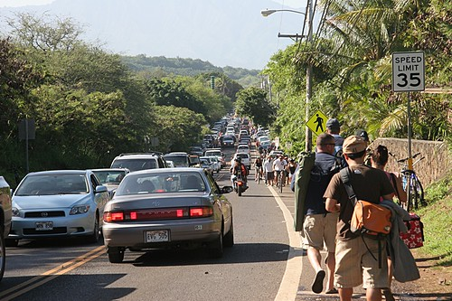 Traffic and Crowds for Surf competition