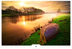 Winterstop (Gert van Duinen) Tags: longexposure winter river landscape boat digitalart landschaft ems landschap dutchartist conceptualphotography landschaftsaufnahme gertvanduinen explore16on20091211