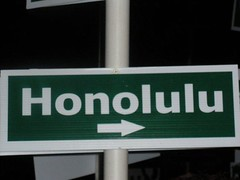Honolulu is in THE 'RIGHT' DIRECTION! (Designer Michael) Tags: island hawaii oahu streetsign tropicalisland tropicalparadise honoluluhawaii hawaiianvacation islandvacation