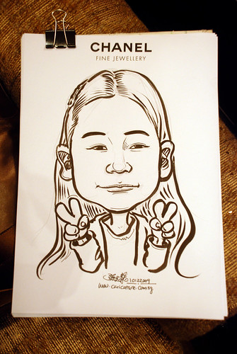 Caricature live sketching for Chanel Day 1 - 12