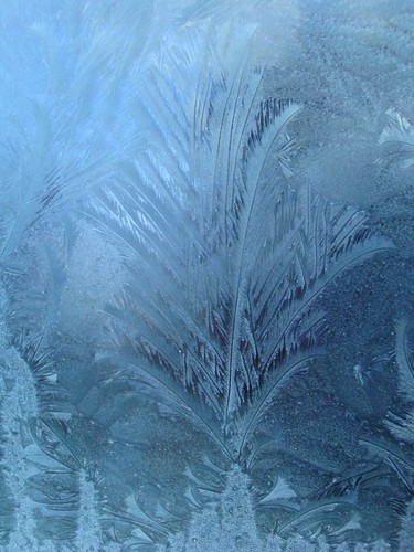 Ice on the car window