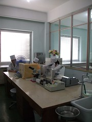 Laboratory at the Pyongyang Maternity Hospi
