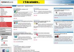 Portal xarxanet.org l'any 2008