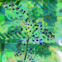 Blue berries in a field of green (Tedje51) Tags: abstract photoshop reality hypothetical crea theart awardtree trolledproud exoticimage art2010