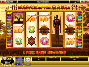 free Dance of the Masai free spins