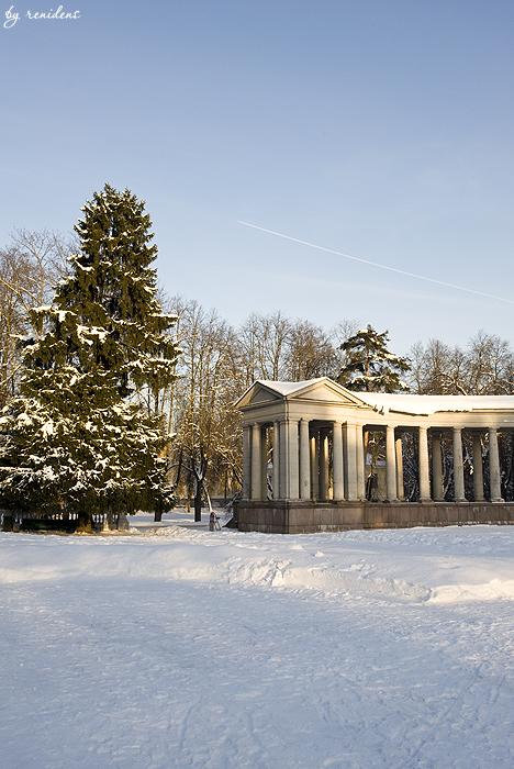 Arkhangelskoe Estate in winter