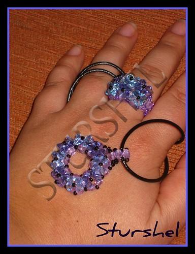 Conjunto DONUT violeta azul
