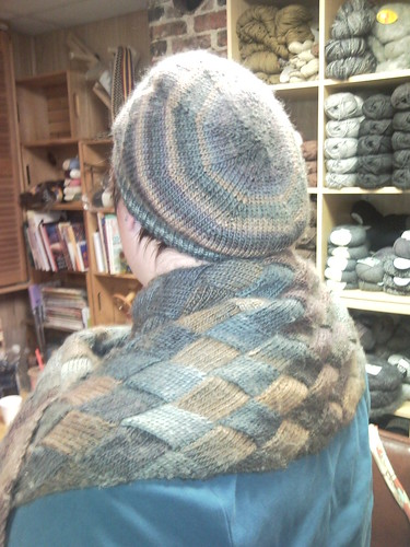 I made a slouchy hat to match my lady e