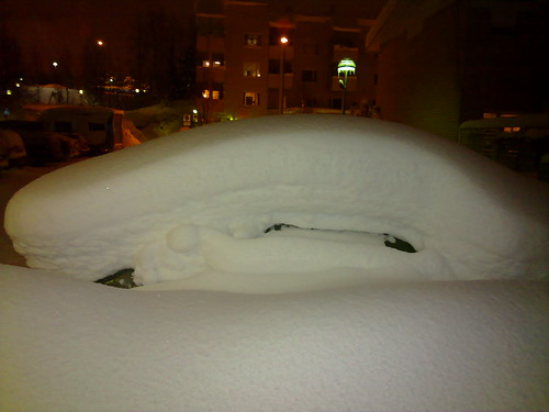 Snowed-over cars