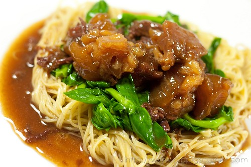 Braised beef & tendon with egg noodles 2