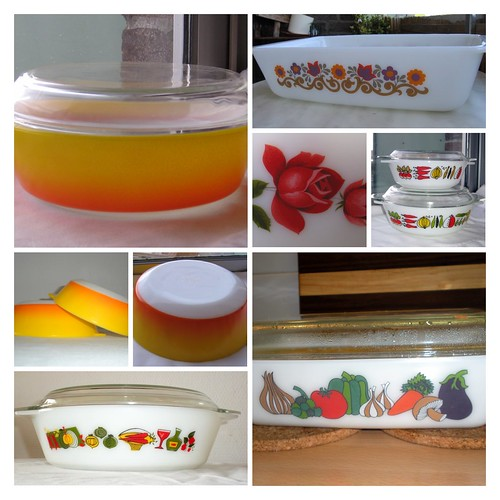 pyrex collage
