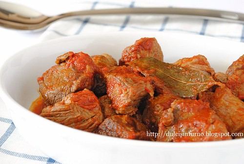 Spezzatino di Vitello all'Alloro-Veal Stew with Bay Leaves