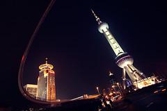 Oriental Pearl Tower (Seafigurine) Tags: china tower night shanghai pearl oriental pudong