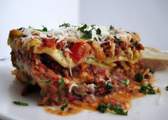 Three Cheese Lasagna - The Noshery
