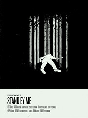 stand by me (nicktassone) Tags: trees black green wil phoenix river movie poster square dead death design graphicdesign mask body grunge monotone rob retro movieposter corey 80s knockout illustrator thebody sutherland kiefer stephenking footer wheaton reiner feldman novella univers printdesign movietitle posterremake