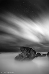 Night Experiment (-yury-) Tags: ocean longexposure sea seascape beach night clouds stars landscape rocks sydney australia ater turimetta