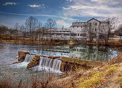 The Falls at Ozark Mill (Uncle Phooey) Tags: mill waterfall bravo scenic explore missouri oldmill ozarks hdr ozark millpond ozarkmissouri blackmagic southwestmissouri christiancounty gpscoordinates ozarkmill unclephooey hooversmill thefallsatozarkmill ozarkwatermill 3702701n 9320771e scenicmissouri