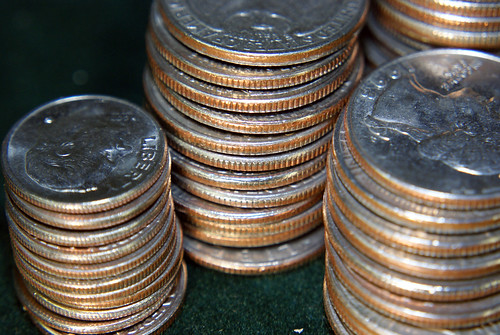 Leaning Coins