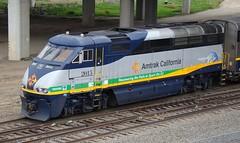 CDTX 2015 -- Going Green (El Cobrador) Tags: california railroad train amtrak locomotive passenger sacramento intercity caltrans capitolcorridor emd f59phi repower cdtx 710eco