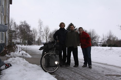 Departure from Roskilde, with Ates and Ödül.