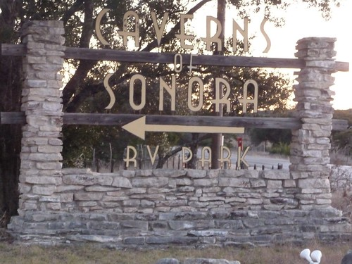 caverns of sonora sign.