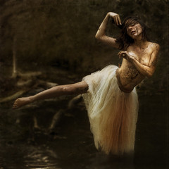 a blending of structure (brookeshaden) Tags: ballerina mud floating structure tutu obviously blending notaselfie oliviaclemens brookeshaden