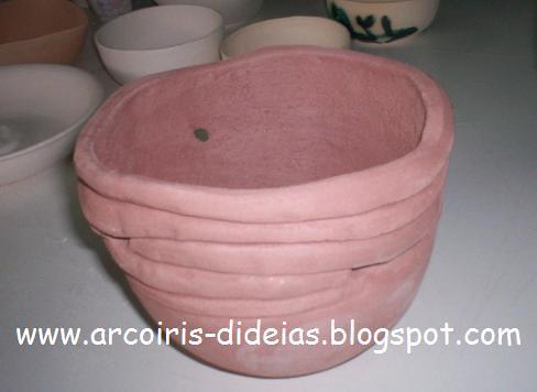 Taça Decorativa, em Grés Refractário (chacotada)