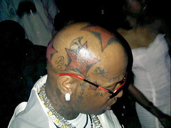 birdman 5 star tattoos on his head