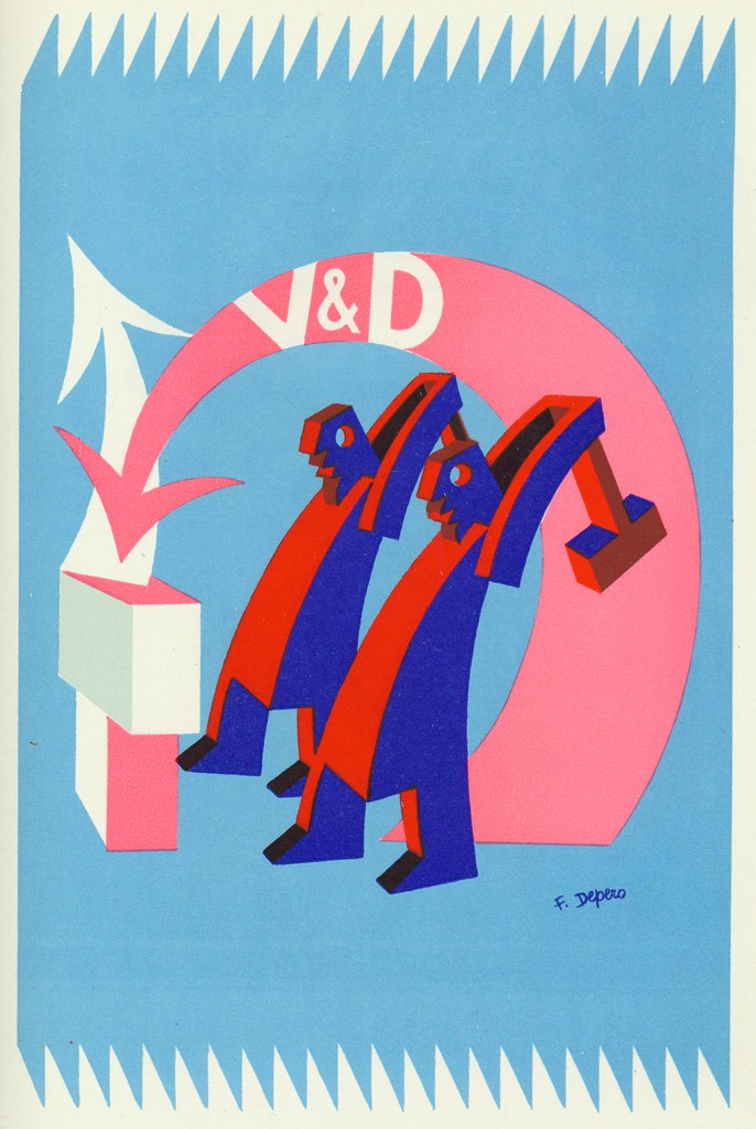 Illustration by Fortunato Depero.