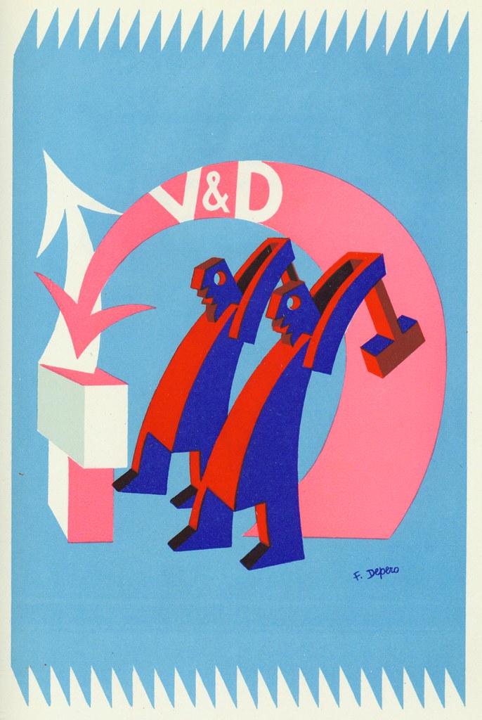 Illustration by Fortunato Depero.