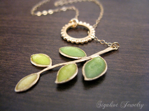 Greening Branch Necklace