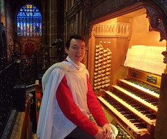 Simon Walker - Organ Scholar 2009-2010 (cathedralchoir) Tags: simon cathedral chester organ walker scholar