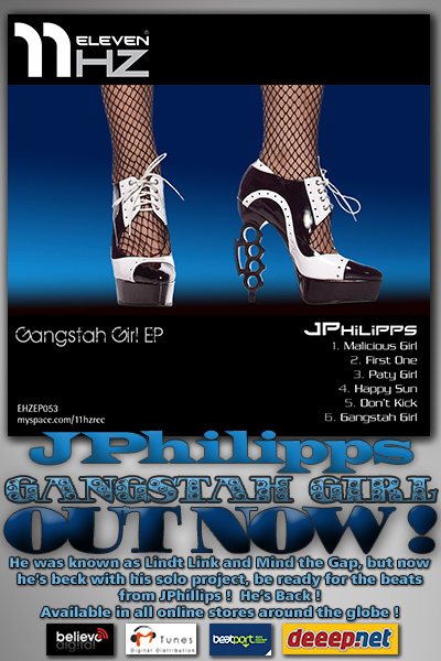 EHZEP053 - JPhillips - Gangstah Girl EP - 11Hz Recordings