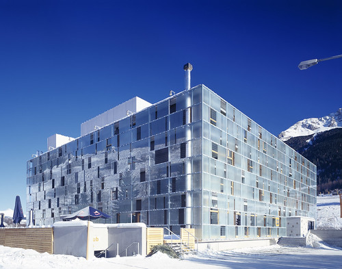 Cube Hotel in Savognin, Switzerland