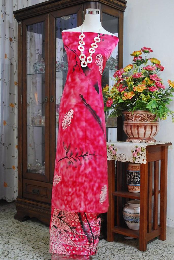 ... terengganu fabrics 2010 batik asli jacquard sutera eksklusif abstrack