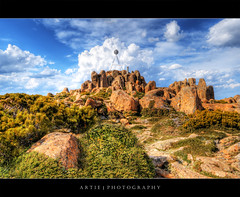 The Pinnacle Rocks at Mount Wellington, Hobart, Tasmania :: HDR (Artie | Photography :: I'm a lazy boy :)) Tags: sky cloud clouds photoshop canon rocks cs2 satellite dramatic wideangle mount wellington tasmania handheld grasses hobart 1020mm hdr pinnacle artie mountwellington 3xp sigmalens photomatix tonemapping tonemap 400d rebelxti pinnaclerocks