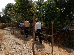 Fence built by Indian Forestry Department to ensure mining is haulted (The Access Initiative) Tags: pictures india beach nature by goa taken monika kerdeman