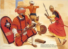 Muslim Warriors (cool-art) Tags: old wall palestine muslim islam jerusalem medieval jordan warriors wars archer palestina saracen armies
