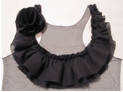 Tank Top with Raw edged Ruffling and Corsage (Tomiffy Design) Tags: handmade sewing etsy corsage ruffling rawedge